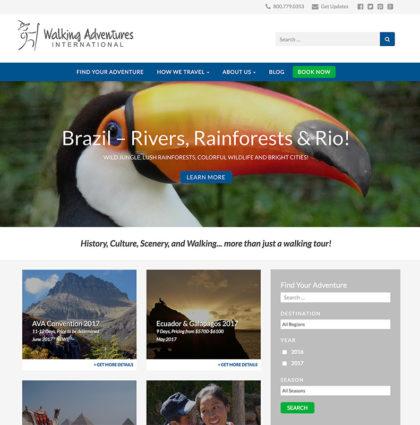 Walking Adventures Website